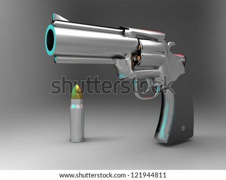 the gun and the bullet - stock photo