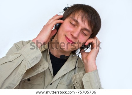 the guy listening in headphones music-relax