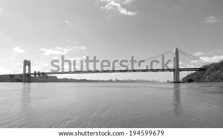 The GW Bridge in New Jersey / The GW - stock photo