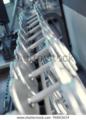The gym weights - stock photo