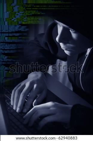 The hacker - stock photo