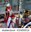 THE HAGUE, HOLLAND - NOVEMBER 14: Santa Claus on his horse on Santa Claus parade on November 14, 2009 in The Hague, Holland. - stock photo