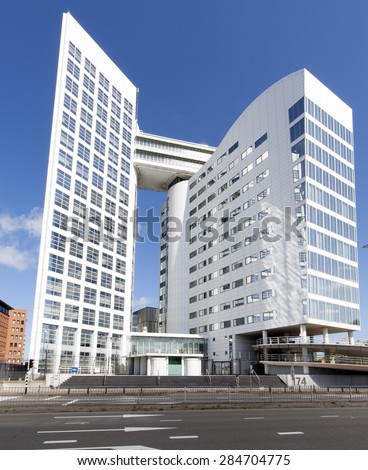 The Hague, Netherlands - June 6, 2015: international court of justice in the Hague Holland