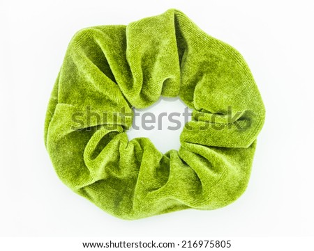 The Hair rubber band on white background for decorate project. - stock photo
