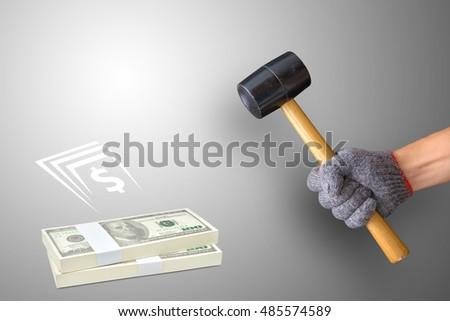 The hammer and dollar