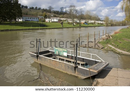 The hampton ferry on the river avon evesham worcestershire england uk