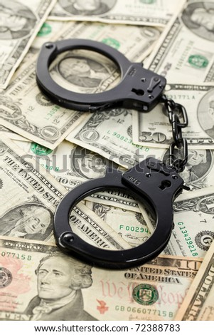 the handcuffs on dollars on american money