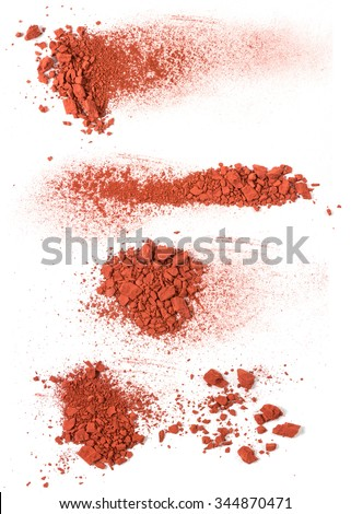 The handfuls of brown ground  isolated on the white background - stock photo