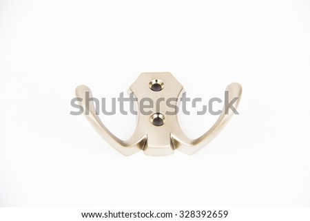 The hanger on the white background - stock photo