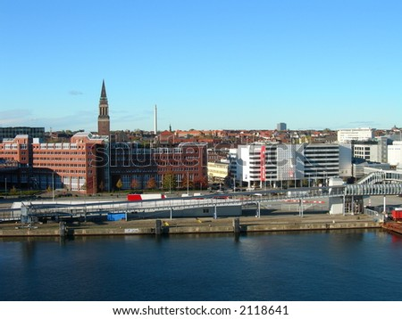 The harbor in Kiel in Schleswig-holstein in Germany