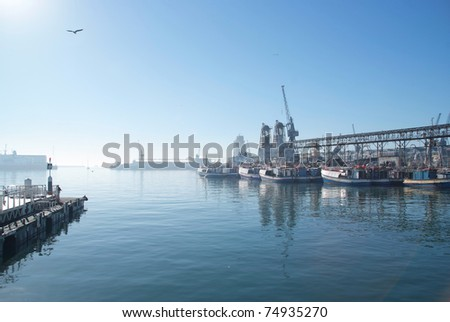 The harbor of Cape Town, South Africa - stock photo