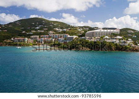 The Harbor of St. Thomas, US Virgin Islands - stock photo