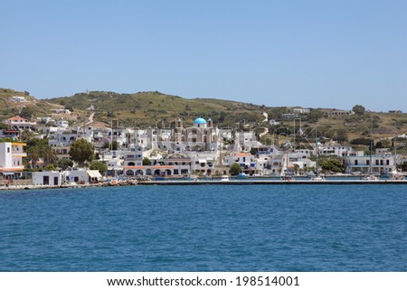 the harbor of the greek island Lipsi