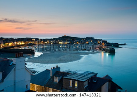 The harbour at St. Ives Cornwall UK - stock photo