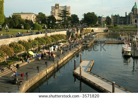 The harbour of Victoria, Vancouver Island. - stock photo