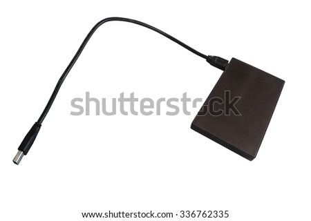 The hard disk on a white background - stock photo
