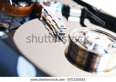 The hard drive . . - stock photo