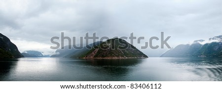 The Hardangerfjord is situated in the county of Hordaland, near Bergen, in the heart of Fjord Norway - stock photo