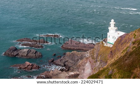 The 1874 Hartland Point Lighthouse North Devon England UK Europe
