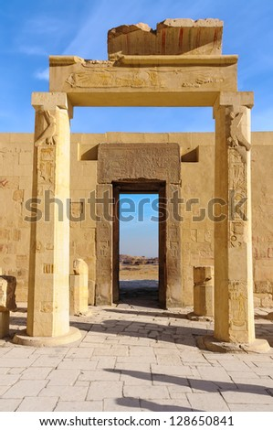 The Hatshepsut temple in the Valley of the Kings - stock photo