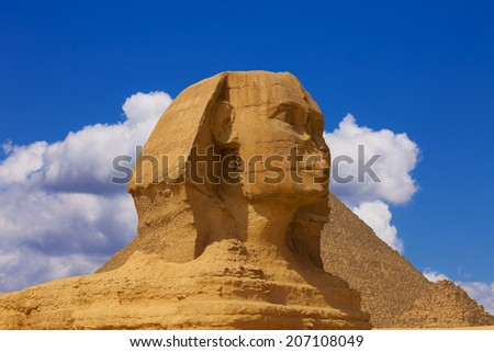 The head of the sphinx - stock photo