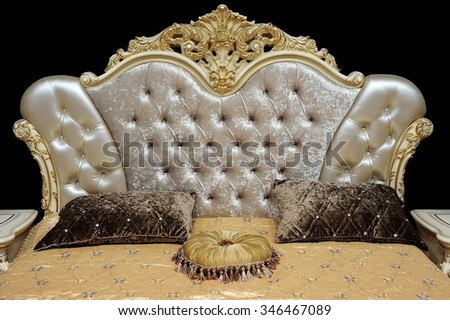 The headboard in the old style - stock photo
