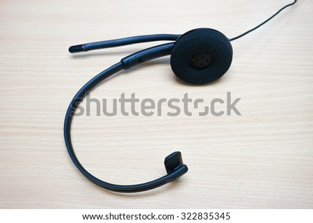 The headset callcenter - stock photo