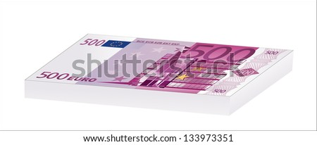 the heap from 500 euro banknotes