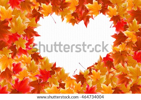 Heart autumn leaves wallpaper background greeting stock the heart of the autumn leaves wallpaper background greeting card autumn voltagebd Image collections