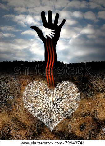 the heart of the earth - stock photo