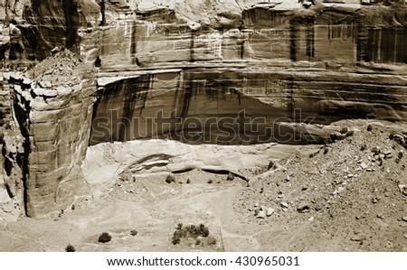 The heart of the Navajo Nation in Arizona, USA - stock photo