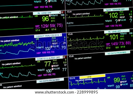 The heart rate monitor - stock photo