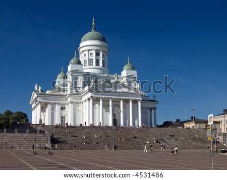 The Helsinki Cathedral in Finland - stock photo