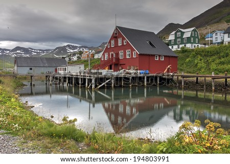 The Herring Era Museum in Siglufj�¶r�°ur, northern Iceland. - stock photo