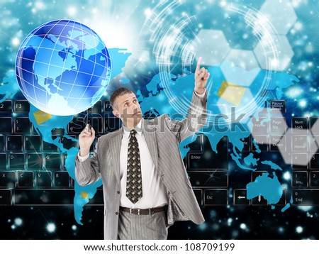 The hi-tech internet - stock photo