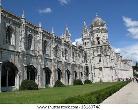 The Hieronymites Monastery in Lisbon - stock photo