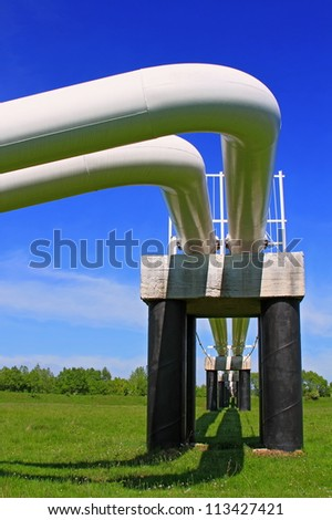 The high pressure pipeline - stock photo