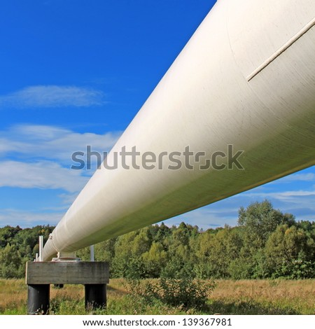 The high pressure pipeline