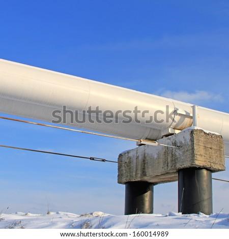 The high pressure pipeline.   - stock photo