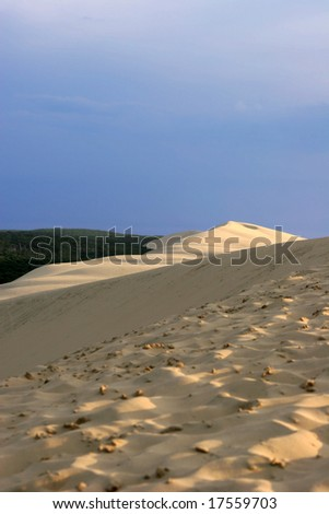 the highest dune in Europe: the great dune of Pyla (or Pilat) - stock photo