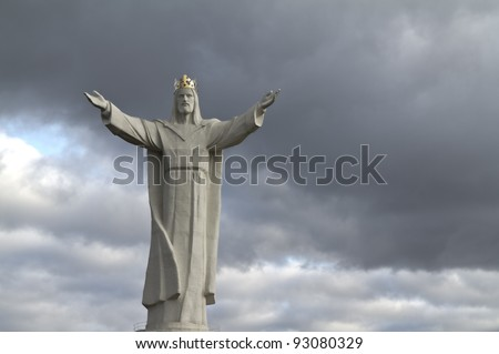 The highest on the world Christ the King Monument, Swiebodzin, Poland - stock photo