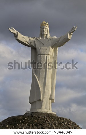 The highest on the world Christ the King Monument, Swiebodzin, Poland