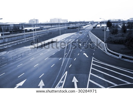 the highroad of a city - stock photo