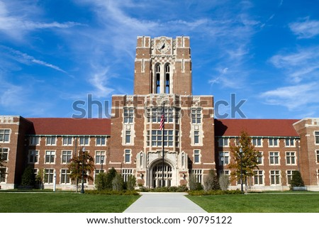 The Hill at the University of Tennessee in Knoxville, Tennessee. - stock photo