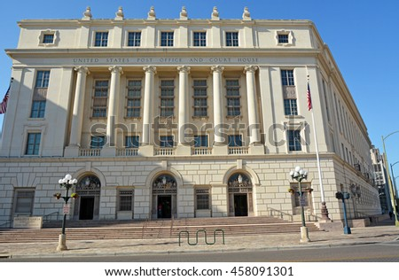 The Hipolito F. Garcia Federal Building and United States Courthouse  - stock photo
