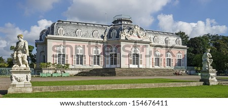 """The historic castle """"Benrath"""" of Dusseldorf in Germany - stock photo"""
