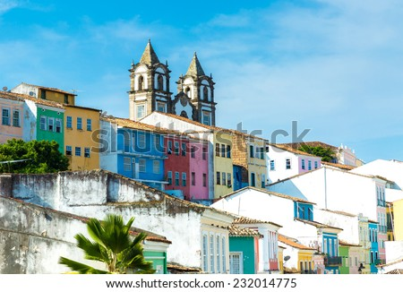 The historic centre of Salvador, Brazil - stock photo