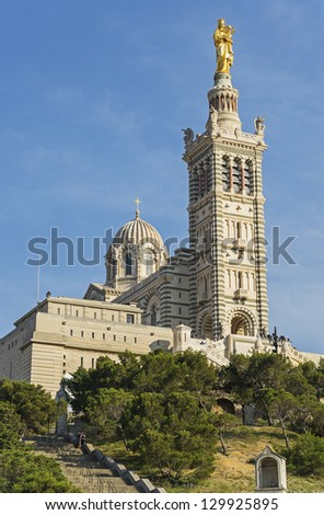 "The historic church ""Notre Dame de la Garde"" of Marseille in South France"