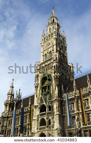 The historic city hall in Munich in Bavaria