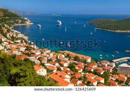The historic city of Dubrovnik in Croatia - stock photo